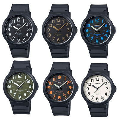 MW-240 Casio Men's Black Resin Band Easy Reader Dial Analog Watch MW240