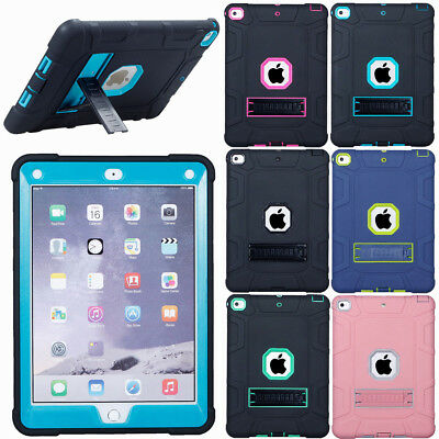Shockproof Heavy Duty Rubber Case Cover for iPad 9.7 2018 Air Pro Mini 2 3 4