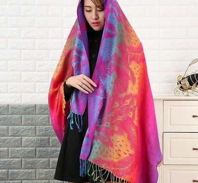 Cotton Jacquard Winter Scarfs Double Sided Neck Warmer Woman Fashion Shawl Wears