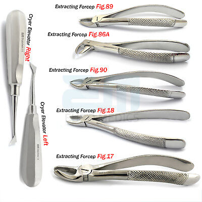 Professional Dental Forceps Tooth Extracting Surgery and Elevator Dentistry Tool