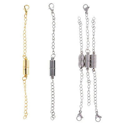 5X Magnetic Lobster Clasp And Chain Extender for DIY Jewelry Necklace Making