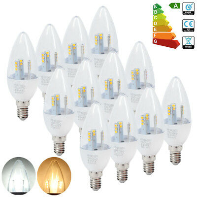 12X E14 LED Candle Bulbs 5W Replacement 50W Light Spotlight Lamp Dimmable SES UK