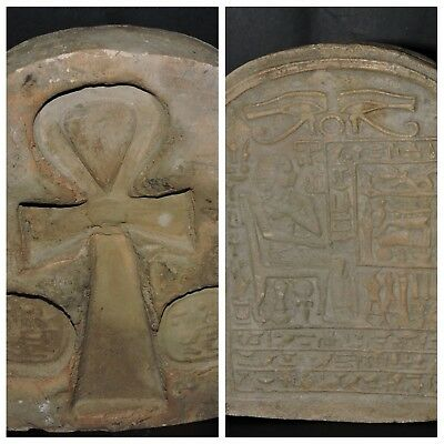 ANCIENT EGYPTIAN ANTIQUES ANKH KEY OF LIFE STELLA RELIF 2 Faces Egypt STONE BC