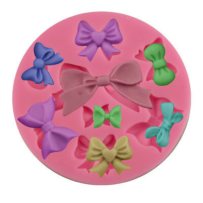 3D Bowtie Silicone Mold Fondant Cake Chocolate Craft Mould Handmade Soap Tools