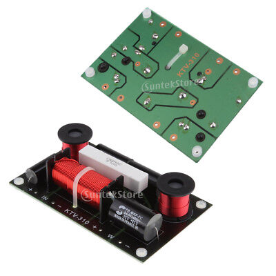 2 Way Crossover Audio Speaker Board Treble & Bass HIFI Frequency Divider