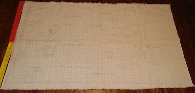 "Vtg American Thread Co Art #511 SWAN Fabric 24"" x 36"""