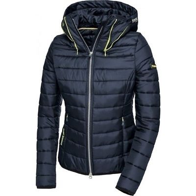 Pikeur Flori Jacket graphite blue ladies fitted padded coat sizes 38 40 UK 10 12