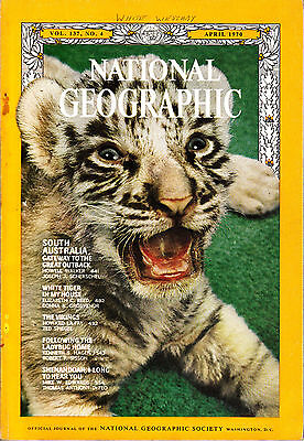 National Geographic Apr 1970 Australia White Tiger Vikings Ladybirds Shenandoah