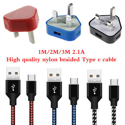 USB 3.1 Type C Cable & Mains Charger Plug For Nintendo Switch