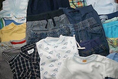 Bundle 21 Baby Boys Clothes 0-3 Months Incl Jeans Shirts T Shirts Hoody Bodies