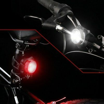 USB Rechargeable Mountain Bike Bicycle LED Head Front Light & Rear Tail Lamp