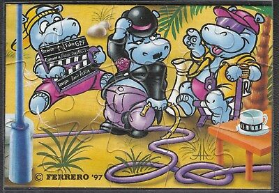 Puzzle Happy Hippo Hollywood Stars - 1997 - Ecke UR  | mit BPZ in Hülle