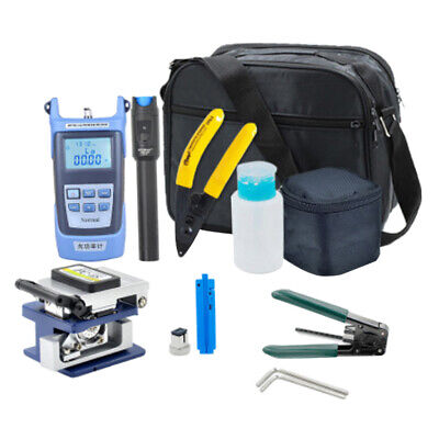 Fiber Optic FTTH Tool Kit, Fiber Cleaver Optical Power Meter Cable Stripper