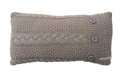 NEW Mamas and Papas Millie and Boris Neutral Cable Knit Knitted Nursery Cushion