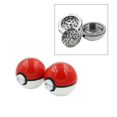 1PC 55mm 3Layer Zinc Alloy Tobacco Mill Spice Herb Grinder Pokeball Pokemon Gift