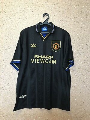 Vintage Manchester United 1993/1995 Away Football Shirt Jersey Maglia Umbro
