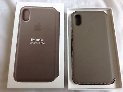 huge selection of 1ea4d 792ab GENUINE APPLE IPHONE X Leather Folio Case - Taupe