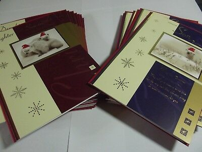 24 Wholesale Mixed Joblot .......Family Members Christmas Greetings Cards..SALE