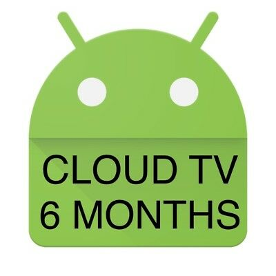 Cloud TV IPTV LIVE TV+VOD Android Enigma Firestick Devices Subscription 6 Months