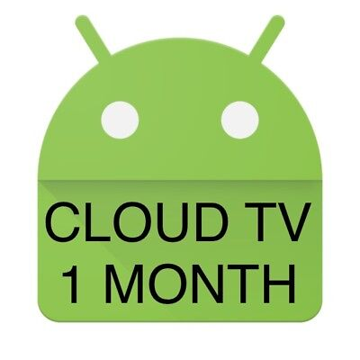 Cloud TV IPTV LIVE TV+VOD Android Enigma Firestick Devices Subscription 1 Month