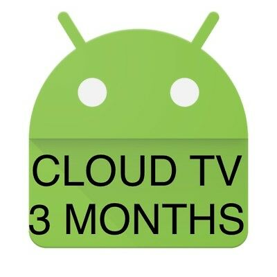 Cloud TV IPTV LIVE TV+VOD Android Enigma Firestick Devices Subscription 3 Months
