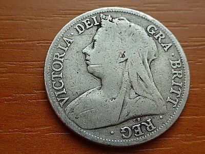 Great Britain 1898 1/2 Crown (Half Crown) Queen Victoria 1837-1901 AD.