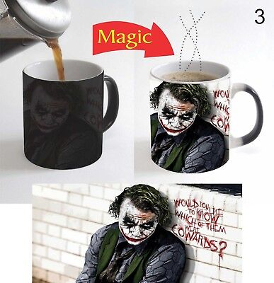 DC Comics Villain Joker Movie Magic Color Change Coffee Mug 11 Oz for Gift