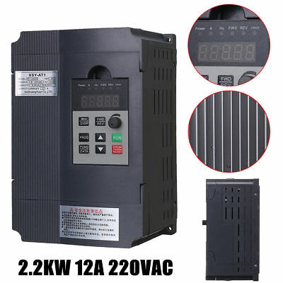 220V 2.2KW Motor Speed Control Variable Frequency Drive Inverter Single Phase UK