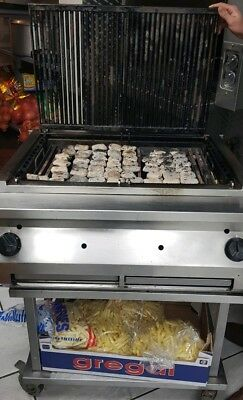 Commercial Gas Charcoal Grill Heavy Duty