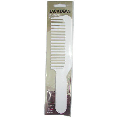 JACK DEAN FLATTOP COMB WHITE By DENMAN FADING BLENDING TAPERING BARBER COMB