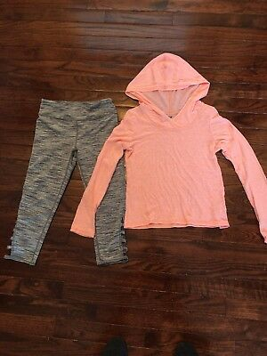 Z BY Zella long sleeve shirt and matching leggings size 8/10
