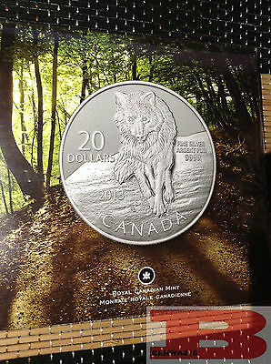 Canada 2013 - $20 for $20 - WOLF - Pure Silver