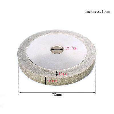 3inch 150# Electroplated Diamond Grinding Wheel For Polishing Metal Jewelry Tool