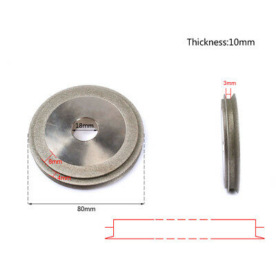 80mm Double-Deck Electroplated Diamond Cutter Grinding Polishing Wheel For Metal