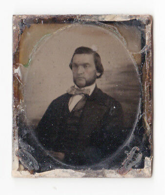 AMBROTYPE PORTRAIT by T&W CUMMINGS ca.1858 (plate only)