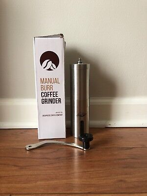 Coffee Grinder Manual Bur Slim Portable Stainless Steel With
