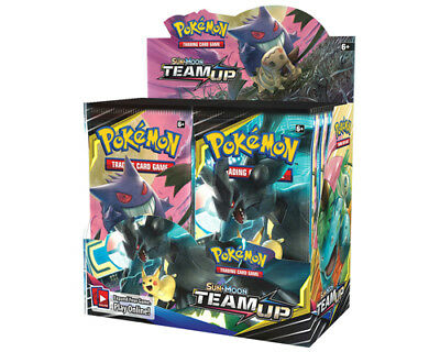 Pokemon Trading Card Game Sun & Moon Team Up Booster Box NOW SHIPPING