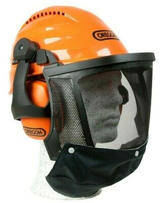 Chainsaw Safety Helmet Combination Ear Muffs & Mesh Visor Oregon Waipoua 562413