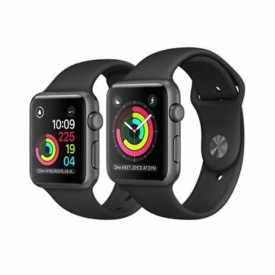 Apple Watch Series 2 42mm Space Gray Aluminum Case w/Black Sport Band GPS