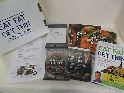 EAT FAT, GET THIN By Dr. Mark Hyman Kit Dvds CD Book All UNWRAPPED (AD)