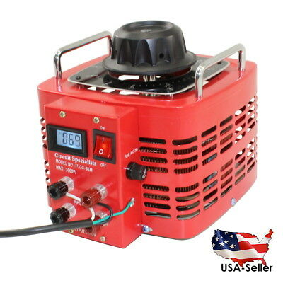 Bench Top 30 Amp Variable Auto-Transformer with LCD Digital Display - TDGC2-3D