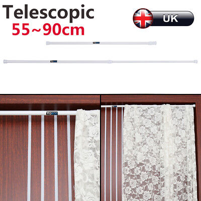 Hot Spring Net Shower Curtain Rods Extendable Tension Telescopic Pole 55-90cm