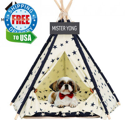 Yongs Pet Cat Dog Rabbit Teepee with Cushion,Portable Puppy Small Animals...