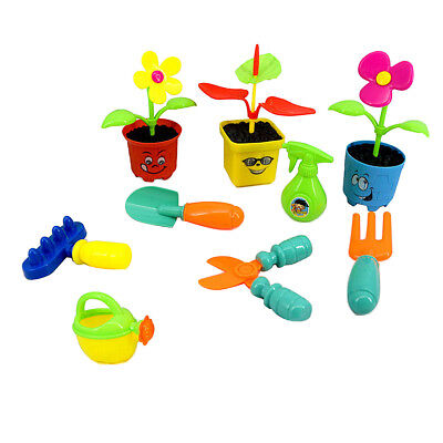 9pcs/set Plastic Flower Planting Tool Set Pretend Play Toy for Kids Child