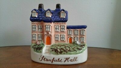 Antique Victorian Staffordshire house STANFIELD HALL, 19th C. English pottery