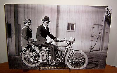 Early 1900's Harley Davidson & Proud Owners