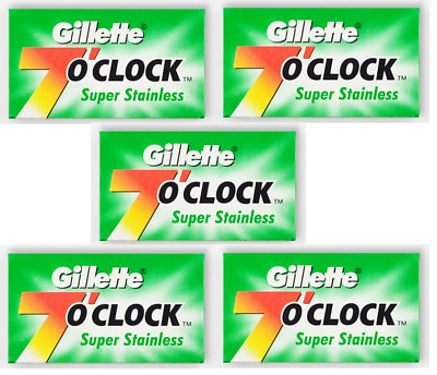 Gillette 7 o`Clock PermaSharp Stainless Double Edge Razor Blades - 50 Blades