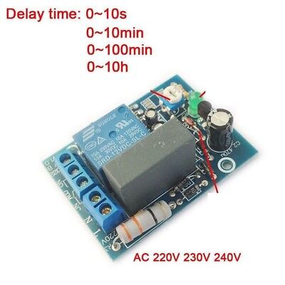 AC 220V 240V Adjustable Timer Delay Turn On/Off Switch Time Relay Module PLC