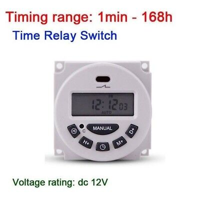 DC 12V Digital lcd power Weekly Programmable Clock Cycle Timer Relay Switch CAR