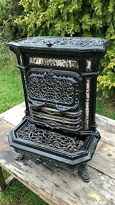 Beautiful Antique Vintage Godin Cast Iron French Free Standing Fire Insert *